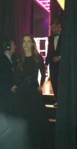 Lady Jacket Brenna Dubinsky took the runway with husband Brandon Dubinsky and their hero, Ian Straight