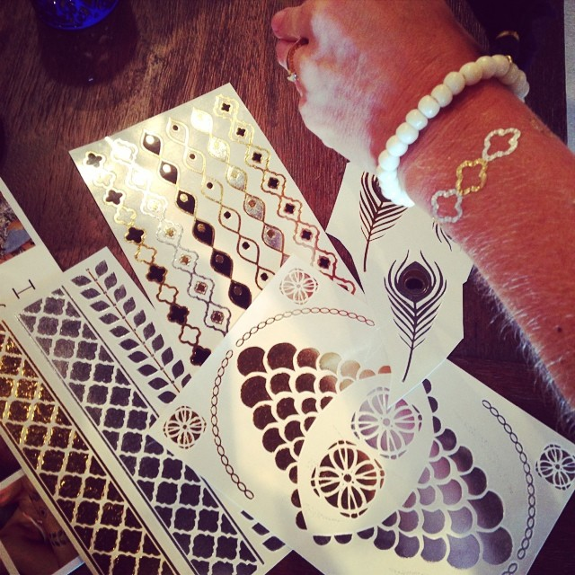Fashionable art temporary tattoos @shopthread #sochic #fashionisart