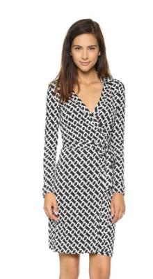 Diane Von Furstenburg wrap dress. $345 at SHOPBOP.