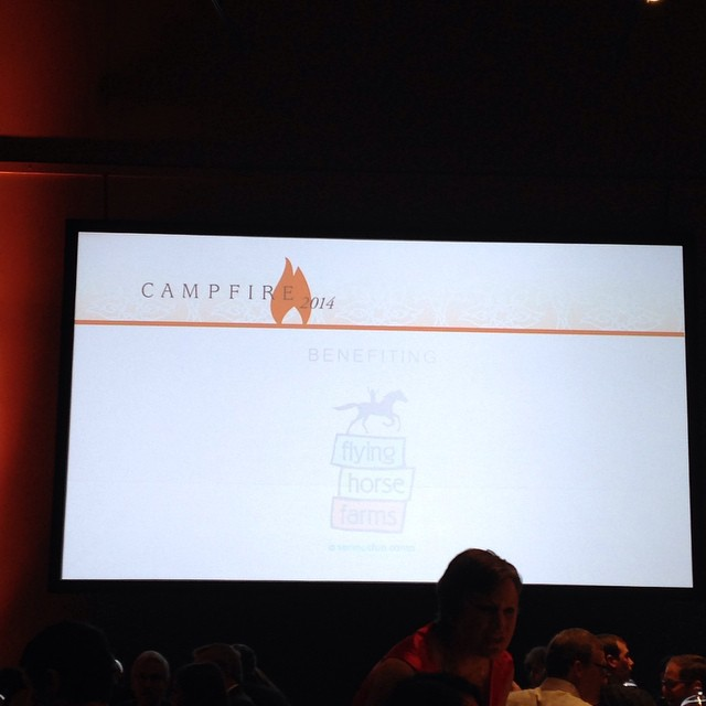 @flyinghorsefarms Campfire event. This organization is AMAZING. Love the work. #kidsfirst #fashion #columbuscommunity