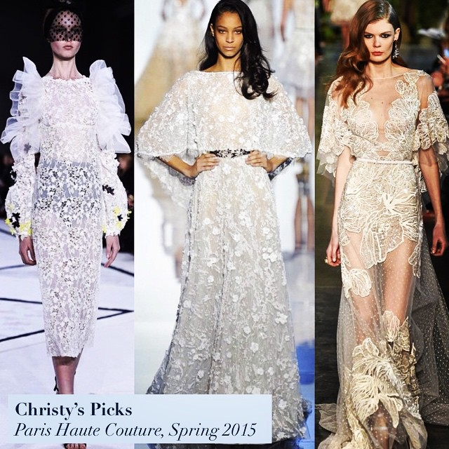 What looks are you loving from this week's Paris Haute Couture Spring 2015 shows? Christy can't get enough of ethereal dresses with sheer detailing, like these stunners from #GiambattistaValli, #ZuhairMurad, and #ElieSaab! @christyw7211 @giambattistapr @zuhairmuradofficial @eliesaabworld #wardrobetherapy #makeeverydayarunway #paris #hautecouture #spring #couture #fashion #style #runway #chic #ethereal #love #beautiful #feminine #sheer #pfw #pfwlive #giambattistapr #eliesaabworld #zuhairmuradofficial