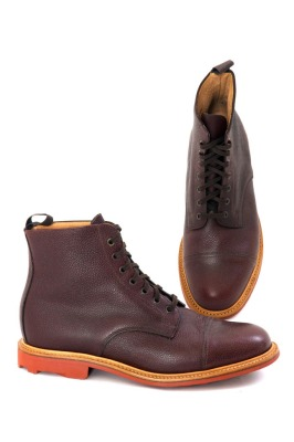 Mark McNairy Brown Grain Pebble Boot, Thread Grandview $495