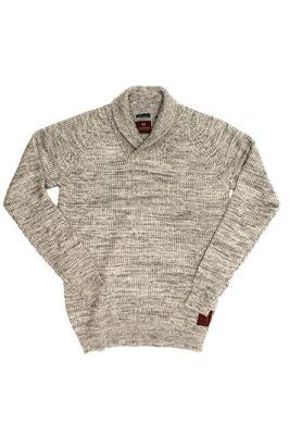 Scotch & Soda Ribbed Shawl Collar Sweater, Tigertree $148