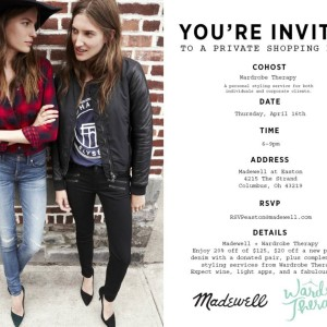 Madewell Event Invitation