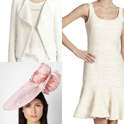 And when in doubt, white works! A skinny nude or metallic belt at the natural waist will transform this look into an even more sleek and flattering silhouette. The hat in one word: FABULOUS.