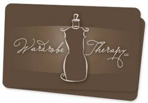 Gift cards showcasing Wardrobe Therapy's inaugural logo, launched in 2006.