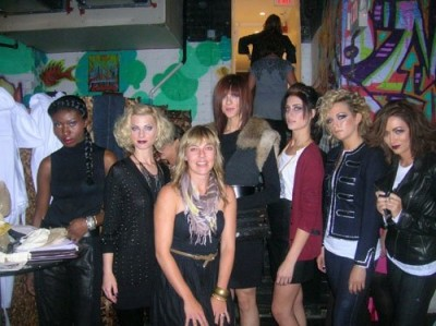 Elizabeth circa 2010 with models she styled for a photo shoot for The Charles Penzone Salons, a longtime client.