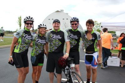 Debbie with other riders on the Charles Penzone Peletonia team