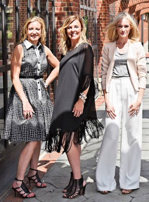 Elizabeth with business partner Michelle Kerr and Style Director Christy Walsh.