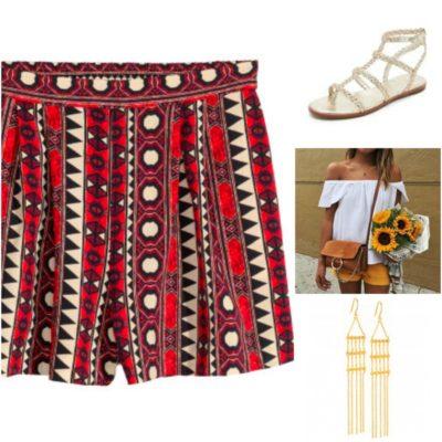 Pattern shorts night