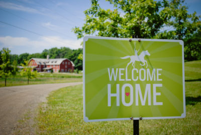 The motto at Flying Horse Farms goes like this: Whether you're coming or leaving, you're always going home.