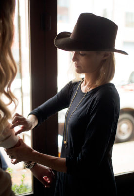 Christy styling a shoot for Capital Style magazine