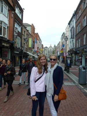 Michelle and Hannah in Dublin, Ireland.