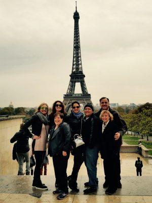 Michelle, far left, in Paris.