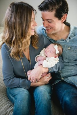 Maren, her fiancé Marc and their daughter, Lennon.