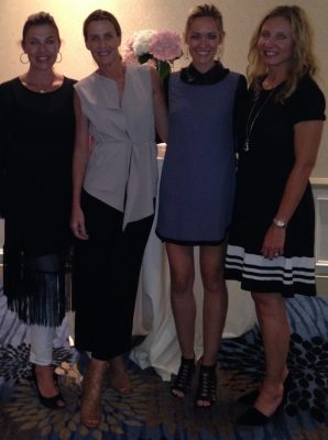 Elizabeth, India Hicks, Christy and Michelle at a private event for India Hicks.