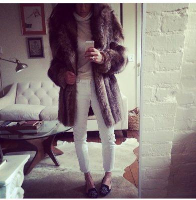 Single favorite item in Allison's closet? This vintage coat.