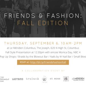 Friends and Fashion: Fall Edition 2018 Event
