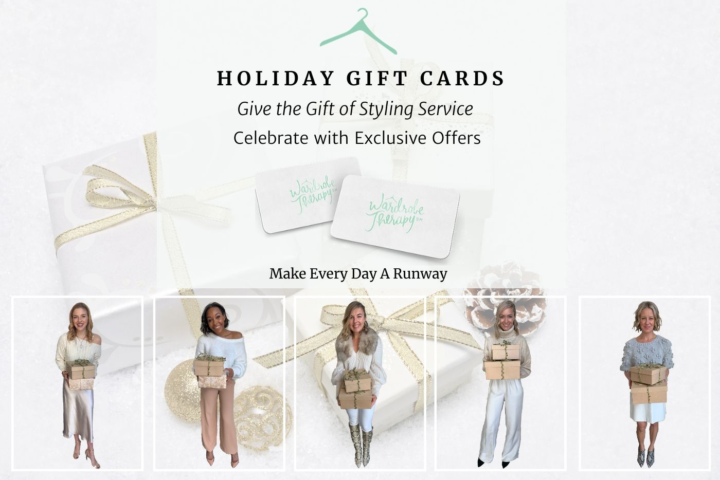 HOLIDAY CAMPAIGN Gold & White Gift Boxes Gold & White Lighter 2019
